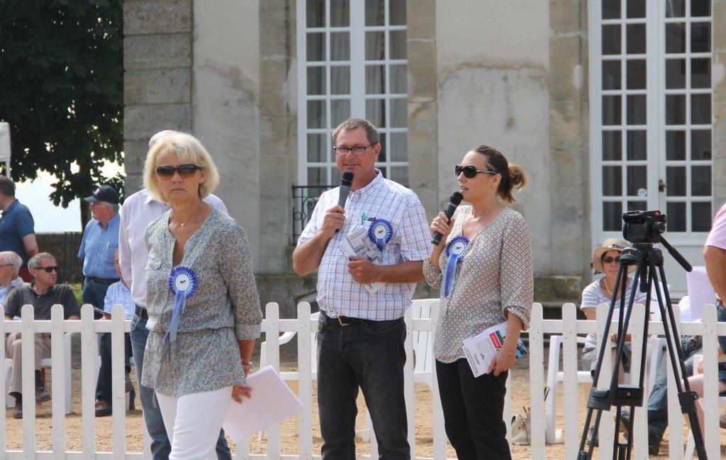 Aliette Forien, Pascal Noue, Céline Gualde pendant le concours.